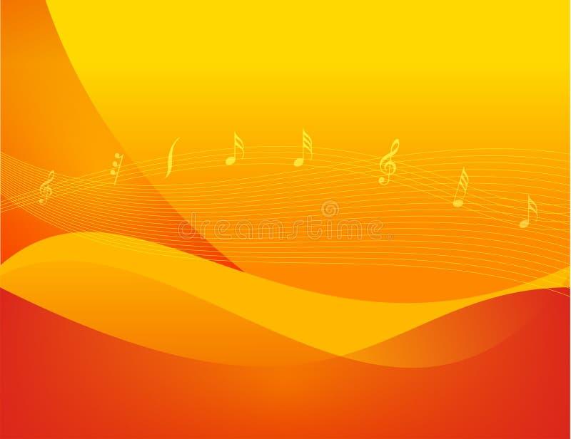 Fondo del tema musical stock de ilustración