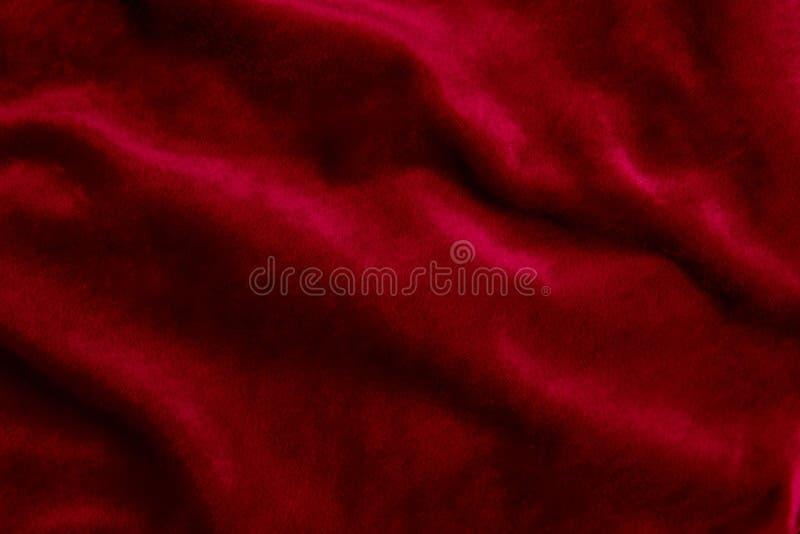 Fondo del tessuto di velor di Borgogna fotografie stock