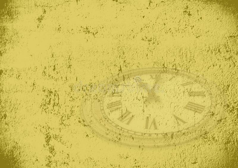 Fondo del tiempo de Grunge stock de ilustración