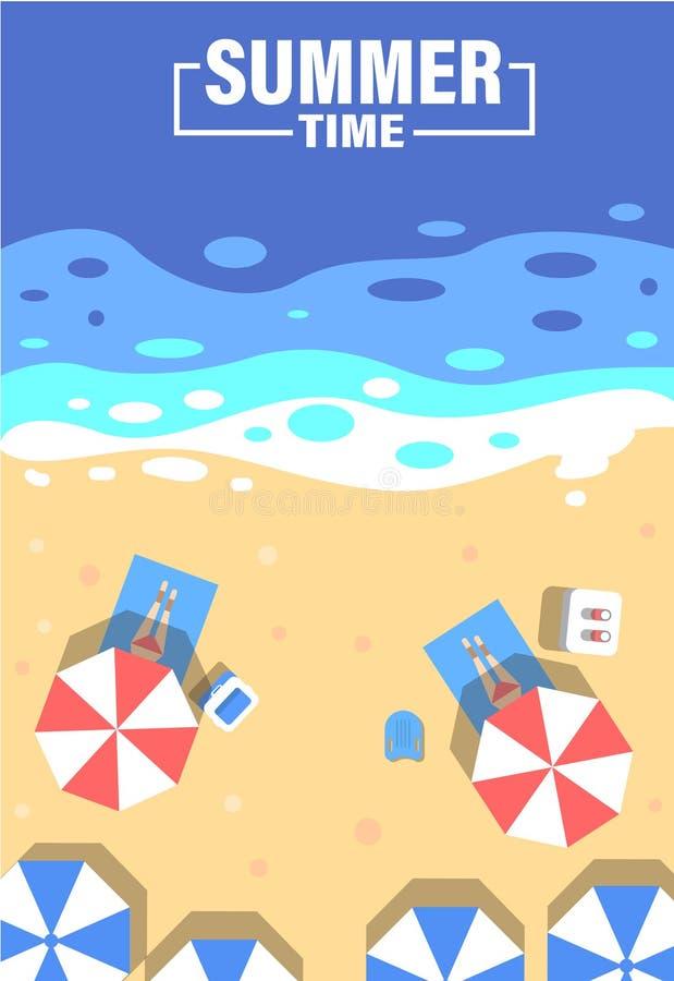 Fondo del tiempo de verano Vector del verano stock de ilustración
