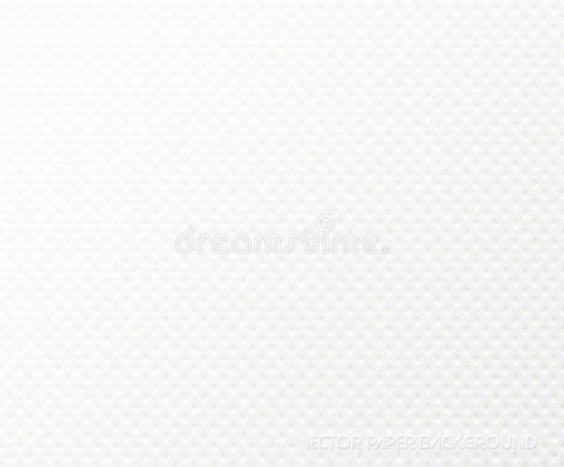 Fondo del tovagliolo strutturato di Libro Bianco Strutturi la forma quadrata impressa Modello di materiale di riempimento della p illustrazione di stock