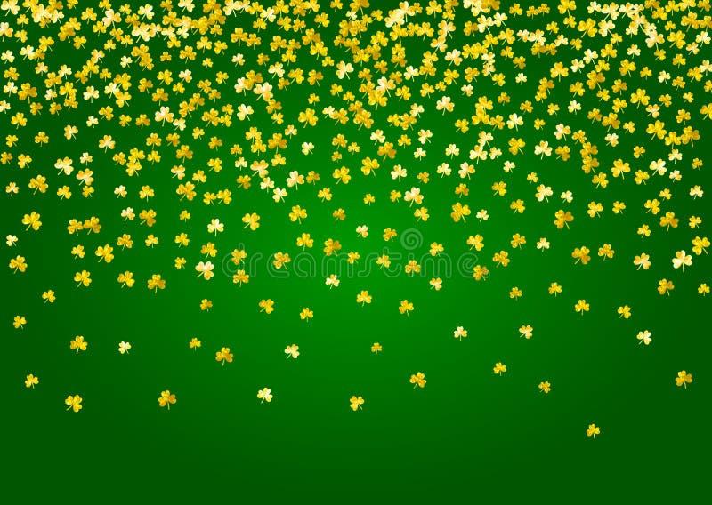 Fondo del trébol para el día de Patricks del santo stock de ilustración