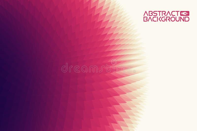 fondo del triángulo 3D Ejemplo púrpura del vector del extracto de la pendiente Ordenador Art Design Template libre illustration