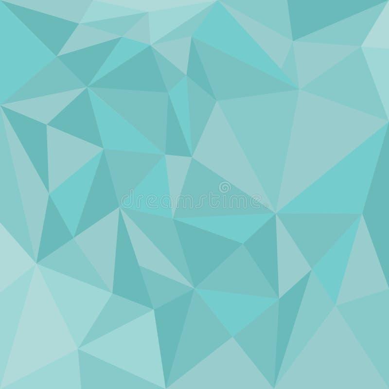 Fondo del triángulo en colores pastel del vector o modelo azul del verde menta stock de ilustración