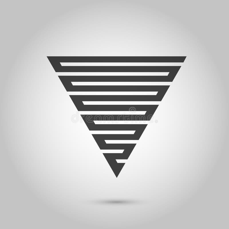 Fondo del triángulo del inconformista del vector cartel con diversos elementos Cartel geométrico abstracto Modelo moderno del dis stock de ilustración