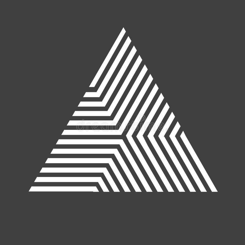 Fondo del triángulo del inconformista del vector cartel con diversos elementos Plantilla del diseño moderno con forma geométrica  stock de ilustración