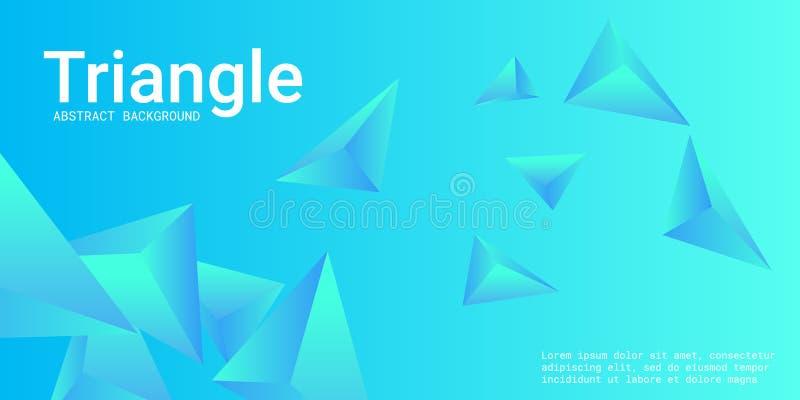 Fondo del tri?ngulo Composici?n abstracta de cristales triangulares stock de ilustración