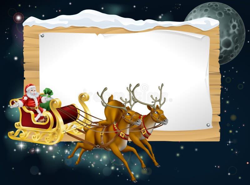 Fondo del trineo de la Navidad de Santa libre illustration