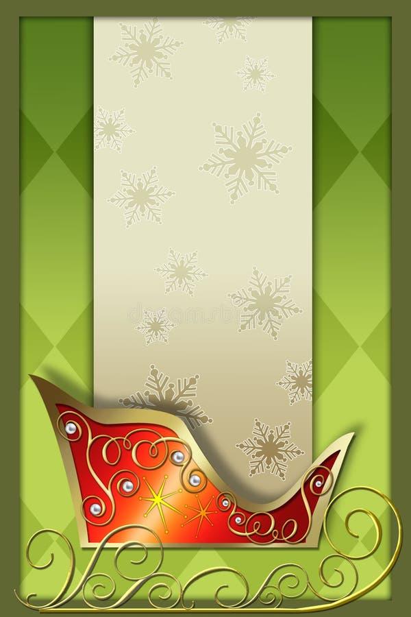 Fondo del trineo de Santa libre illustration