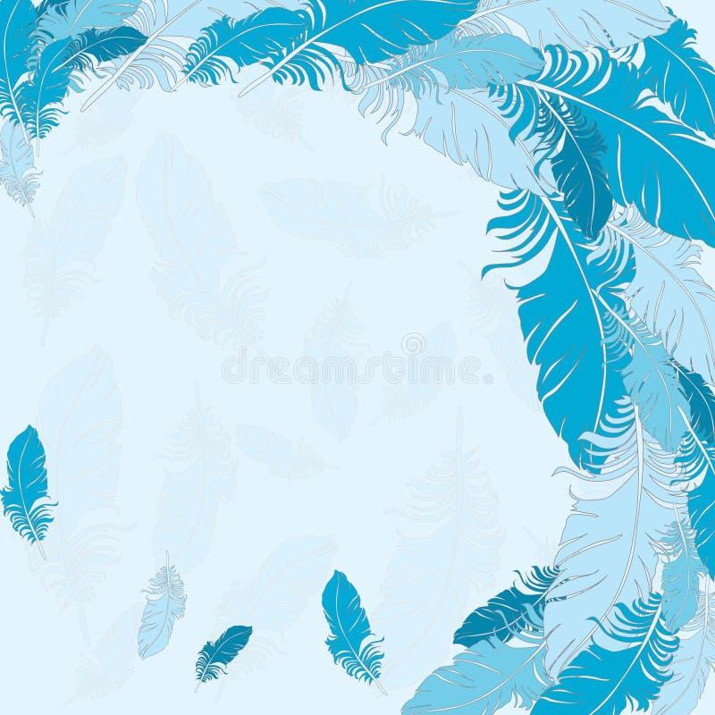 Fondo del vector azul de las plumas libre illustration