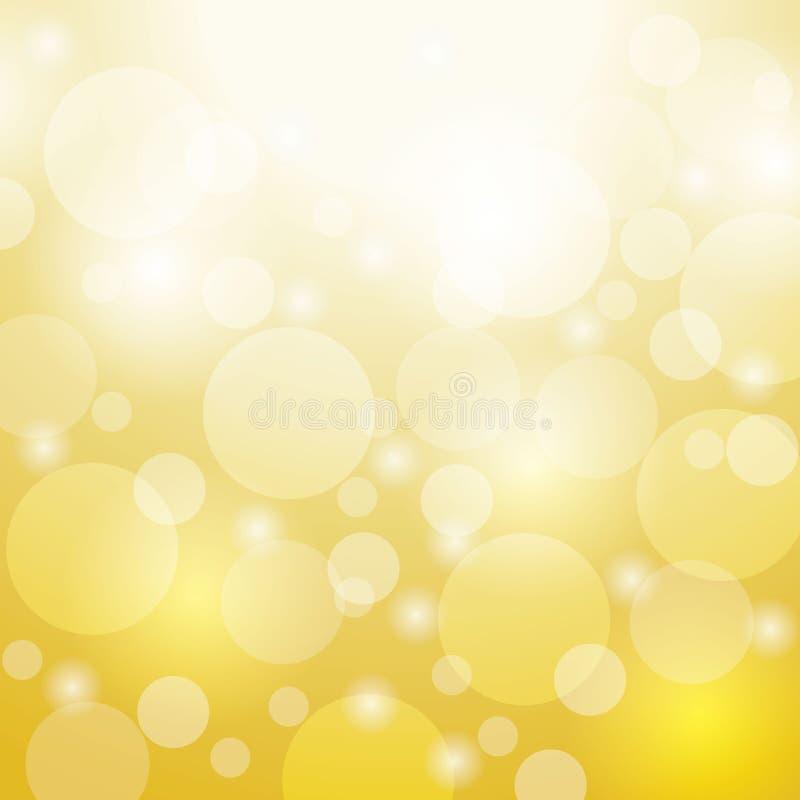 Fondo del vector del bokeh del color oro Diseñe para el estudio, sitio, la Navidad de la plantilla del web Ilustración libre illustration