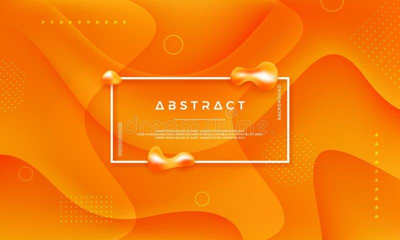 Fondo del vector del círculo amarillo anaranjado Fondo abstracto del vector con el estilo 3d Fondo dinámico con el concepto de ilustración del vector