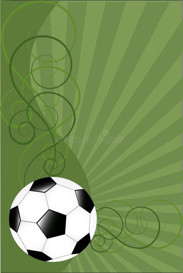 Fondo del vector con el balón de fútbol foto de archivo libre de regalías