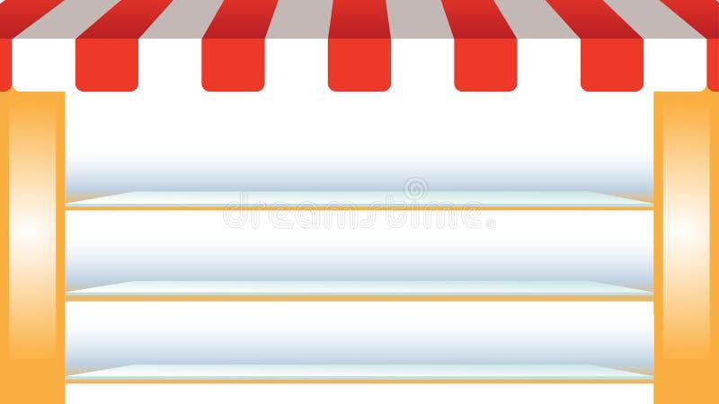 Fondo del vector con el soporte que hace compras ilustración del vector