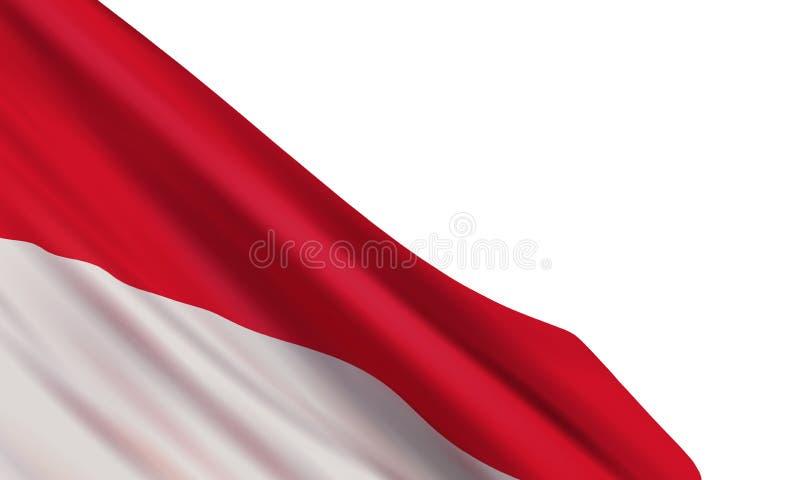 Fondo del vector con la bandera realista de Indonesia ilustración del vector