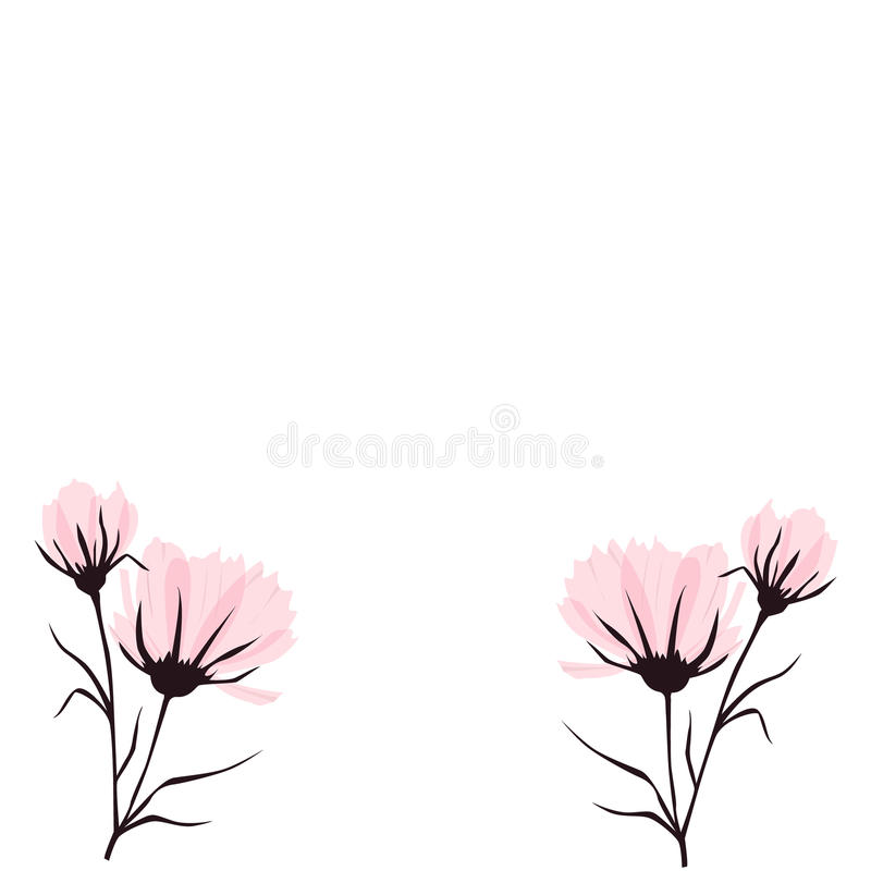 Fondo del vector con la flor en colores pastel libre illustration
