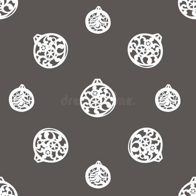Fondo del vector con las bolas del árbol de navidad ilustración del vector