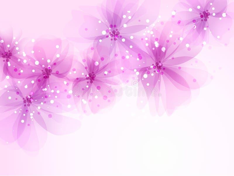 Fondo del vector con las flores ilustración del vector