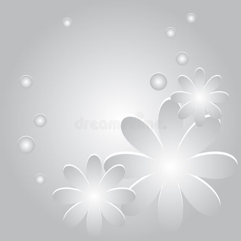 Fondo del vector con las flores y los círculos libre illustration