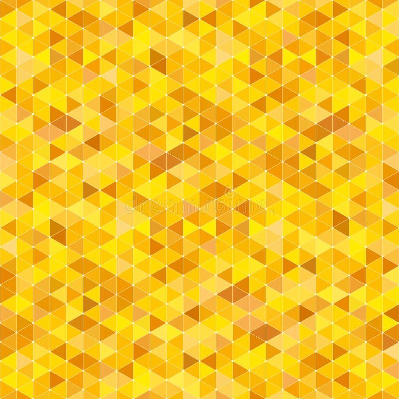 Fondo del vector con los triángulos amarillos stock de ilustración