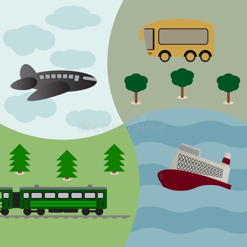 Fondo Del Vector Con Transporte Foto de archivo libre de regalías