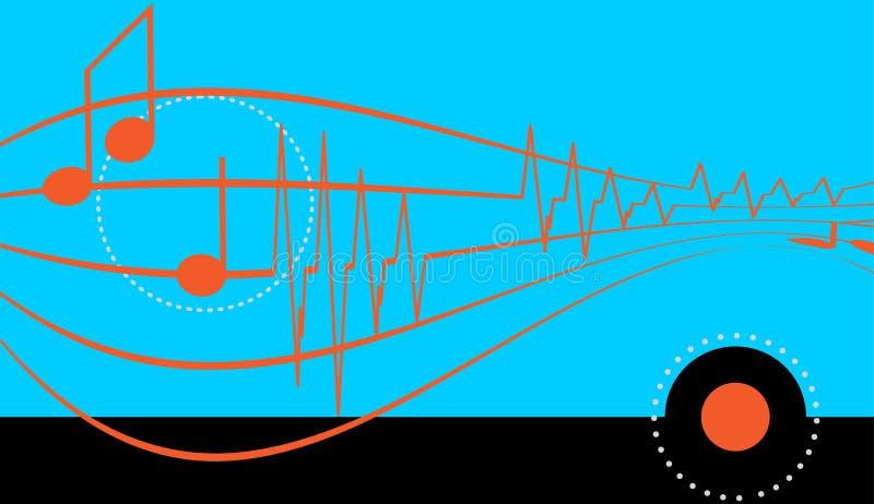 Fondo del vector con un tema musical libre illustration