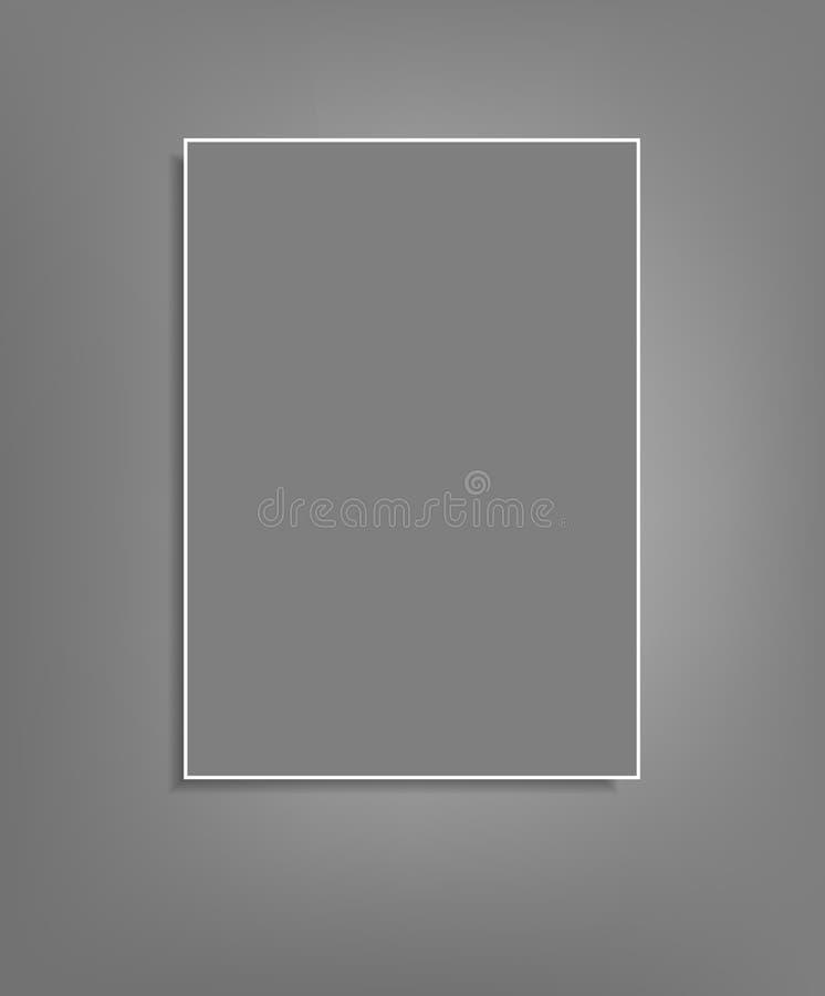 Fondo del vector con una ejecución gris de la hoja de papel libre illustration