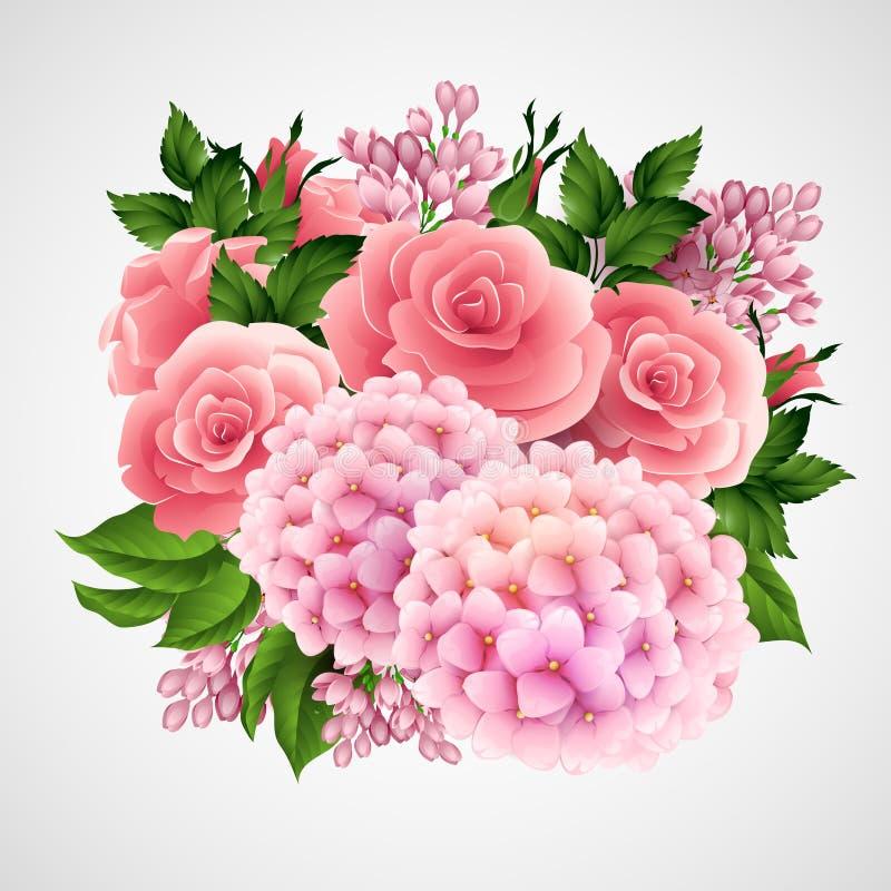 Download Fondo Del Vector Con Una Flor Hermosa Ilustración del Vector -  Ilustración de ramificación,