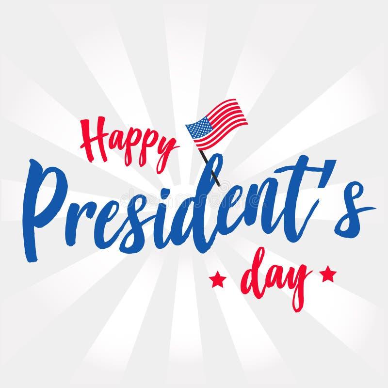 Fondo del vector del día del ` s del presidente o gráfico feliz de la bandera stock de ilustración