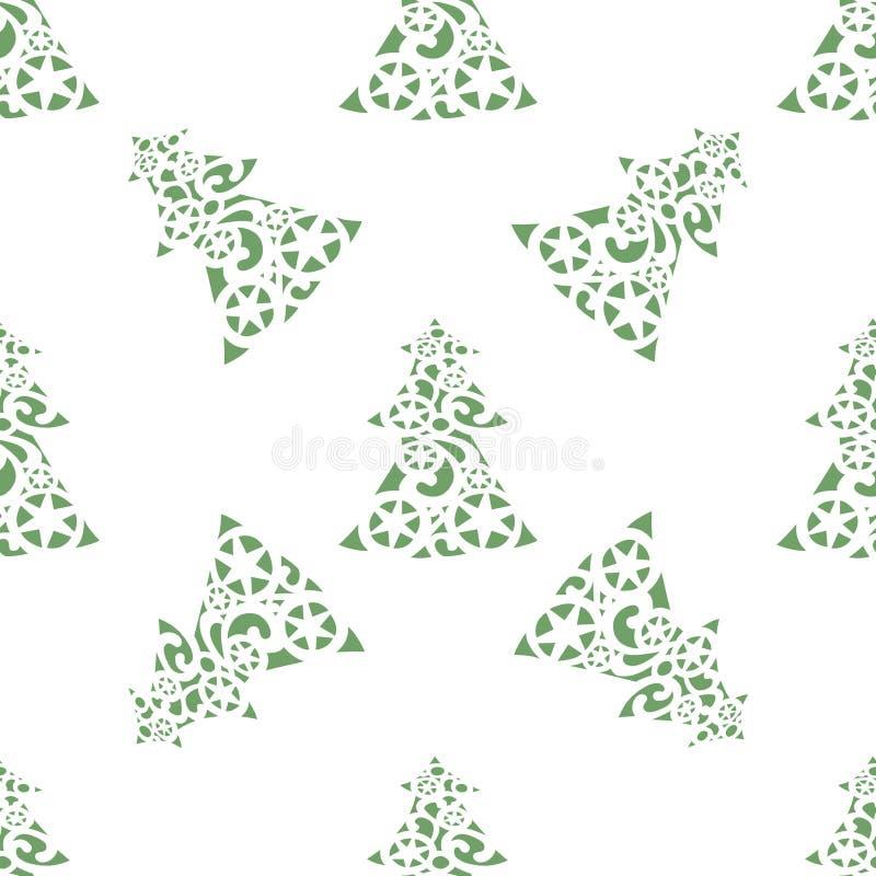 Fondo del vector de árboles de navidad ilustración del vector