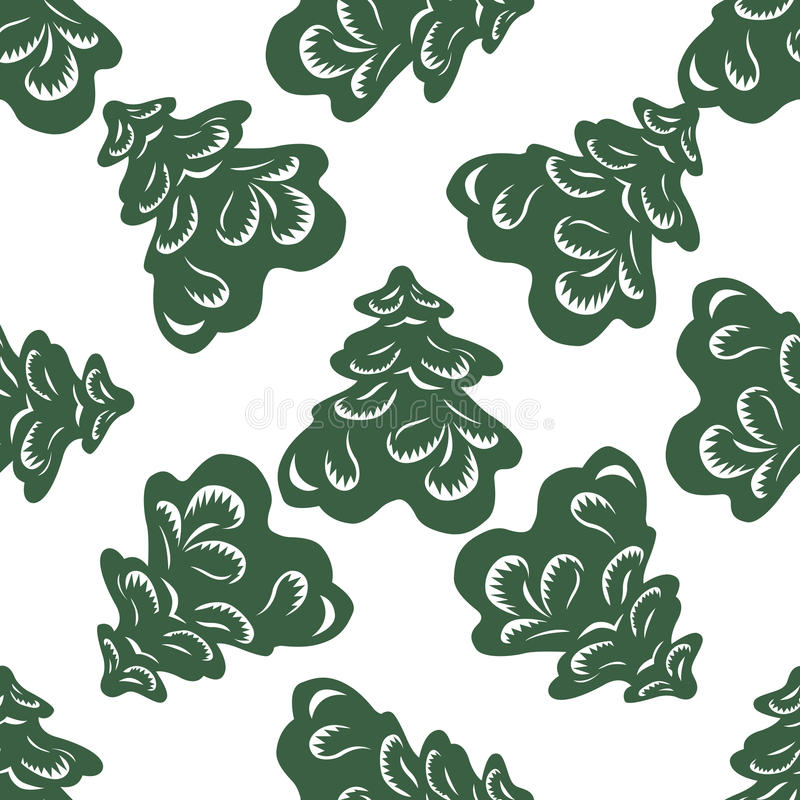 Fondo del vector de árboles de navidad stock de ilustración