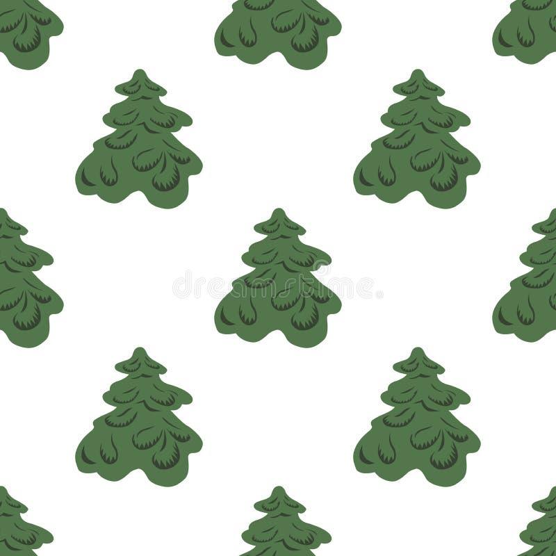 Fondo del vector de árboles de navidad libre illustration