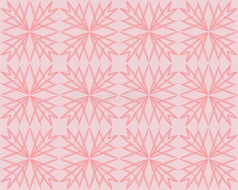 Fondo del vector de Coral Pink Geometric Triangle Pattern Impresi?n polivin?lica baja tallada Rose Gold Shimmering Metallic Gradi libre illustration