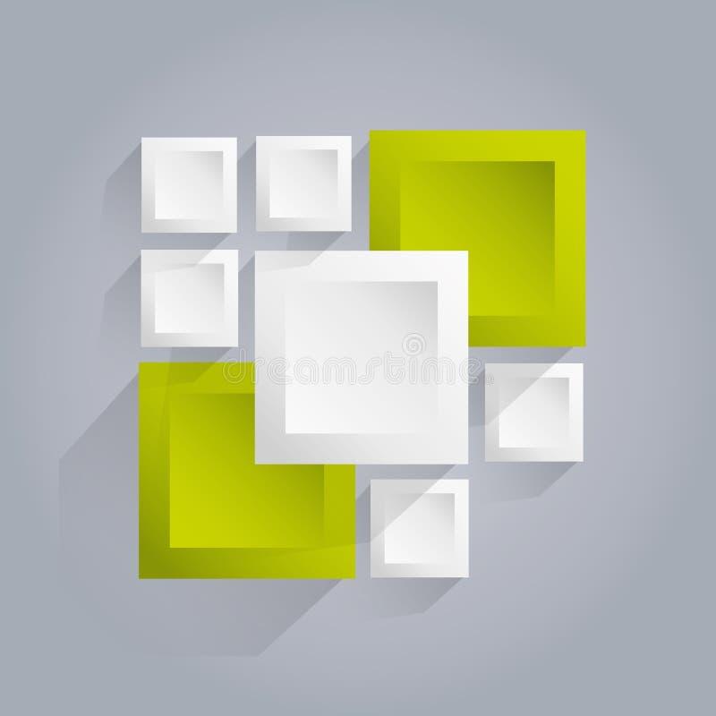 Fondo del vector de Infographics con los cubos stock de ilustración