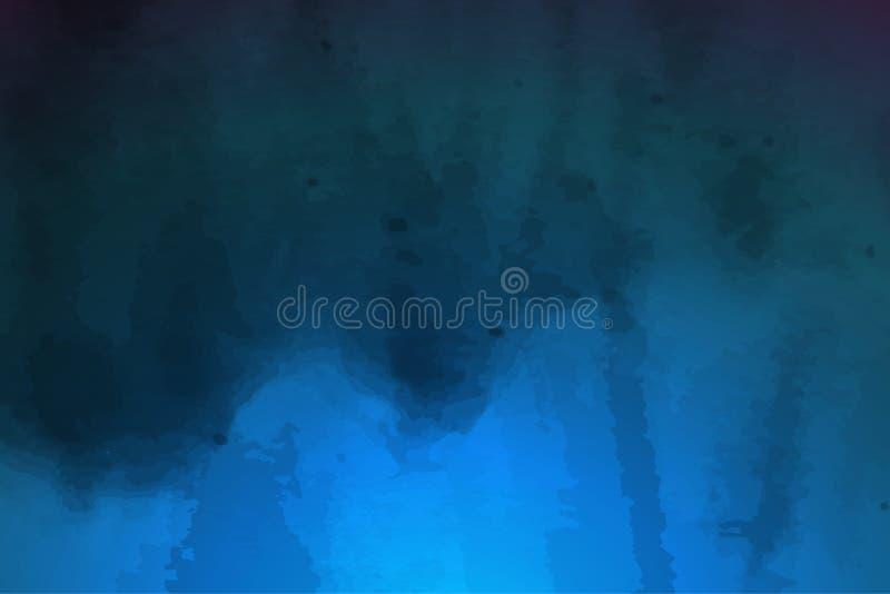 Fondo del vector de la acuarela de los azules marinos Terraplén de la pendiente libre illustration