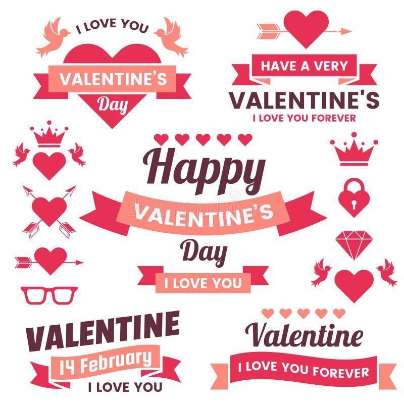 Fondo del vector de la bandera de la plantilla de la tarjeta del día de San Valentín para la bandera libre illustration