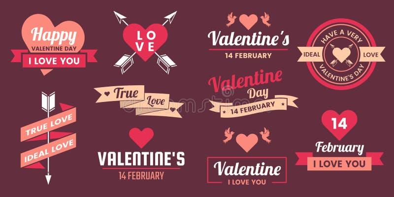 Fondo del vector de la bandera de la plantilla de la tarjeta del día de San Valentín para la bandera stock de ilustración