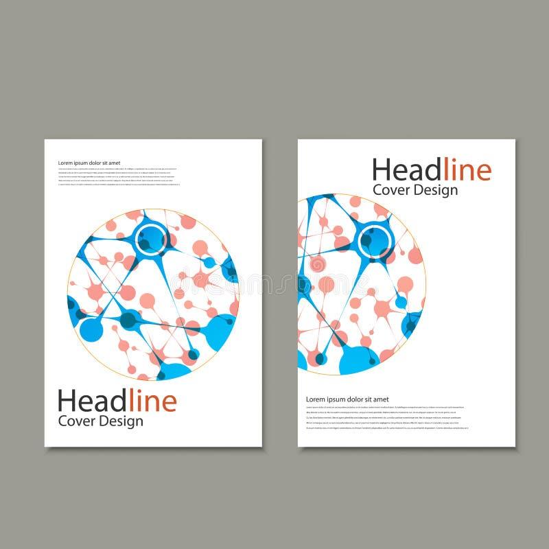 Fondo del vector de la ciencia Plantillas modernas del vector para el folleto, el aviador, la revista de la cubierta o el informe libre illustration