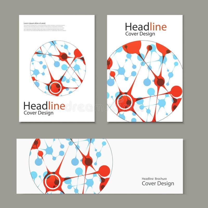 Fondo del vector de la ciencia Plantillas modernas del vector para el folleto, el aviador, la revista de la cubierta o el informe stock de ilustración