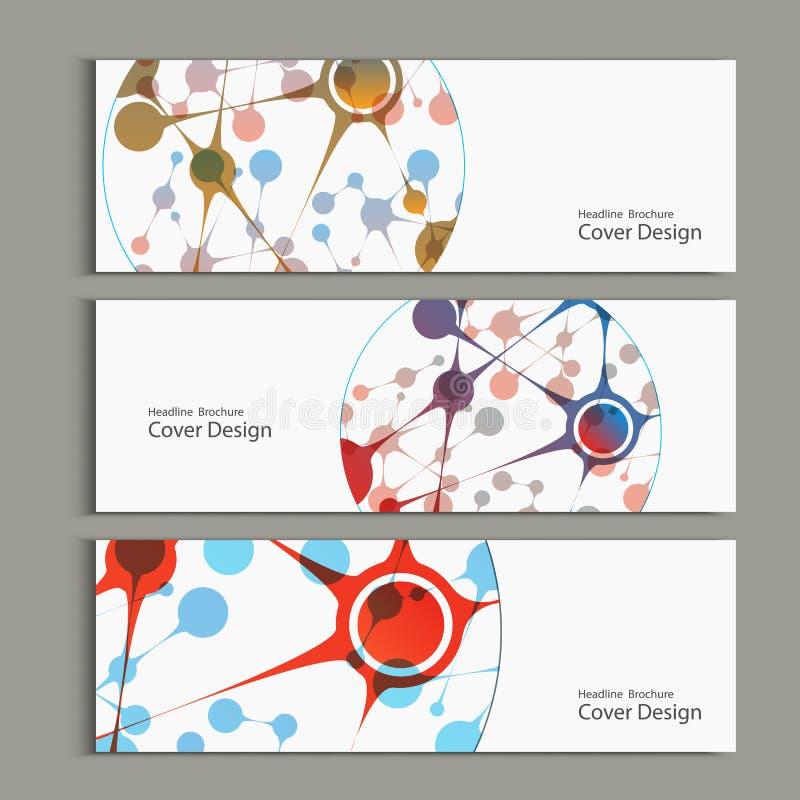 Fondo del vector de la ciencia Plantillas modernas del vector para la cubierta, bandera libre illustration