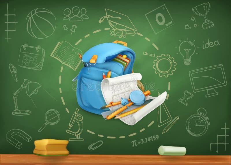 Fondo del vector de la escuela libre illustration