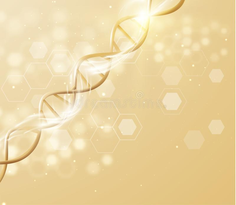 Fondo del vector de la estructura del filamento de la DNA Vector eps10 libre illustration