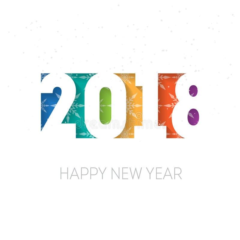 Fondo del vector de la Feliz Año Nuevo 2018 Cubierta del diario f del negocio ilustración del vector