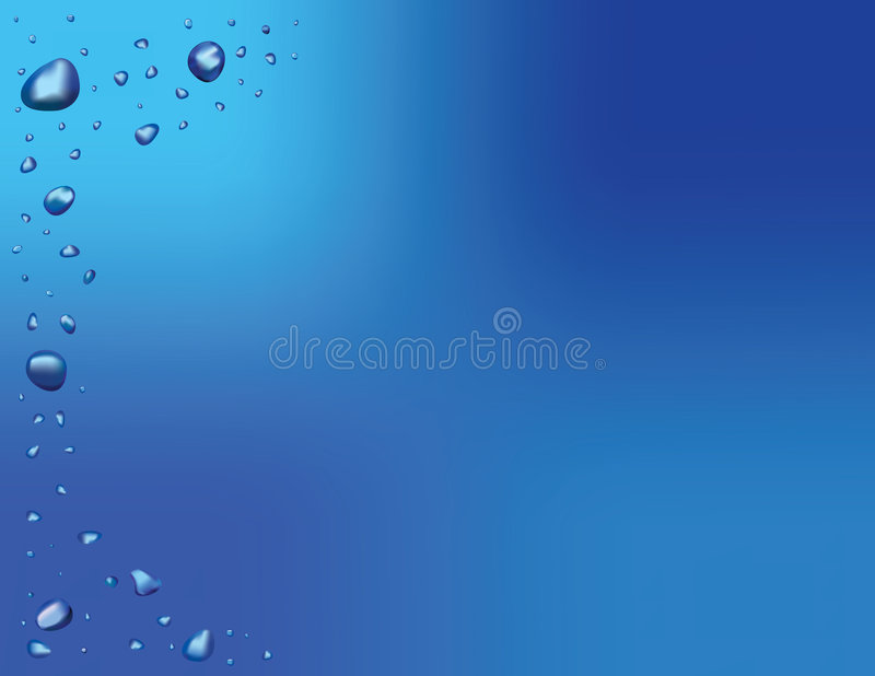 Fondo del vector de la gota del agua stock de ilustración