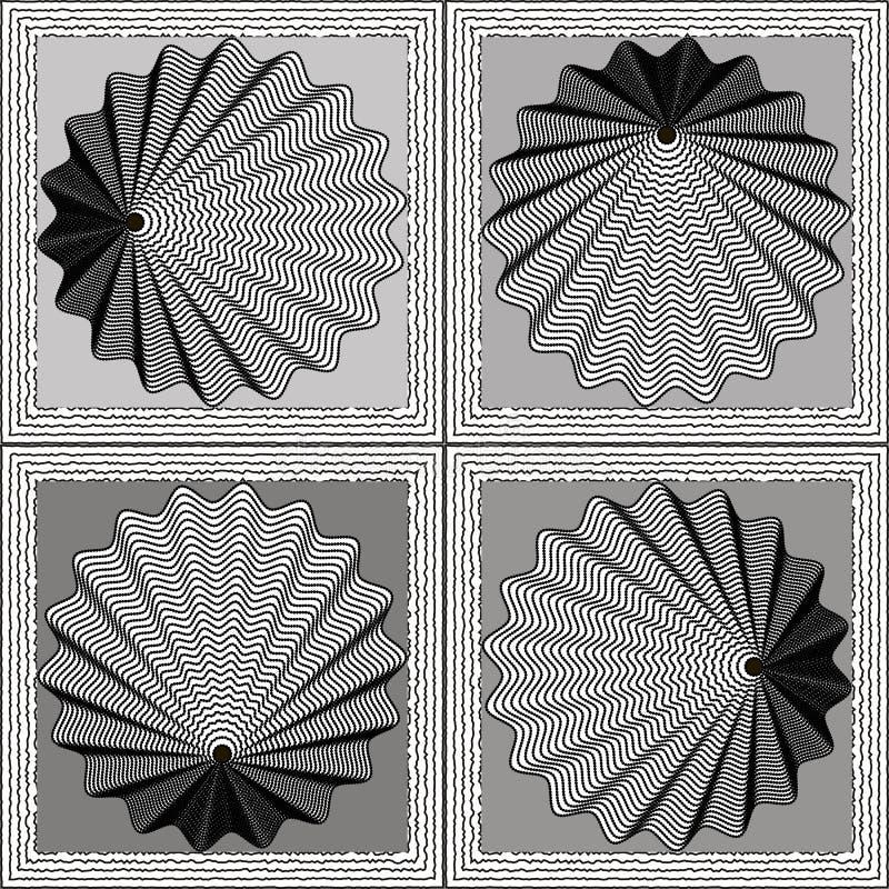 Fondo del vector de la ilusión óptica imagenes de archivo