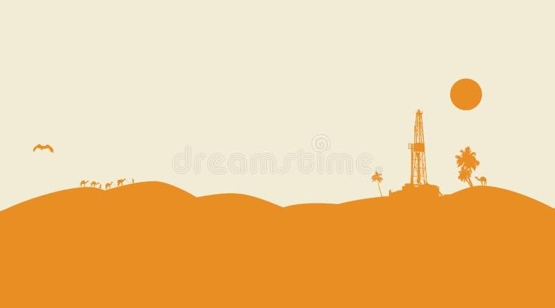 Fondo del vector de la perforación petrolífera ilustración del vector