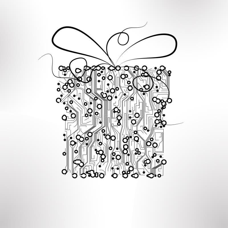 Fondo del vector de la tarjeta de circuitos ilustración del vector