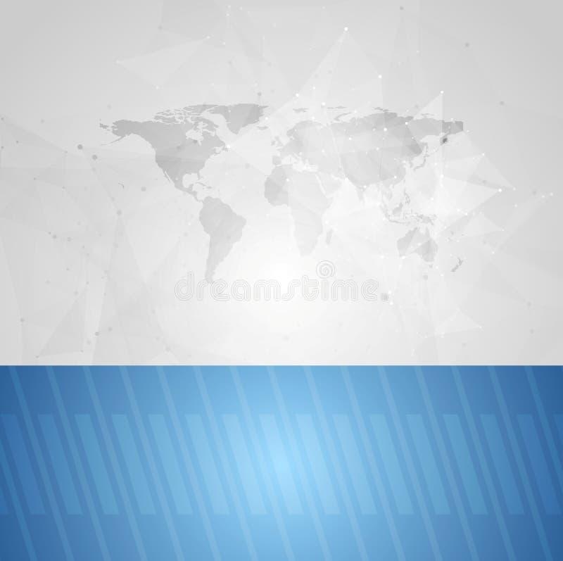 Fondo del vector de la tecnología del gris azul ilustración del vector