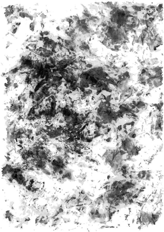 Fondo del vector de la textura del vintage del Grunge Negro abstracto del grano libre illustration