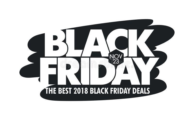 Fondo del vector de la venta de Black Friday - IllustrationBanner - muestra, bandera de la web, el 23 de noviembre - fecha civil, stock de ilustración